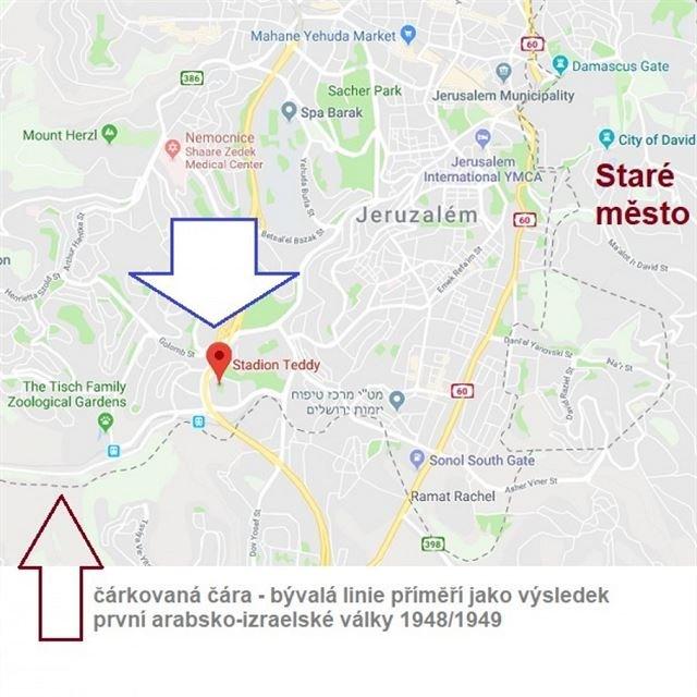 Český spolek přátel Izraele Mapka-Jeruzalema Kazisvěti zvítězili - Argentina zrušila zápas v Jeruzalémě Novinky Sport